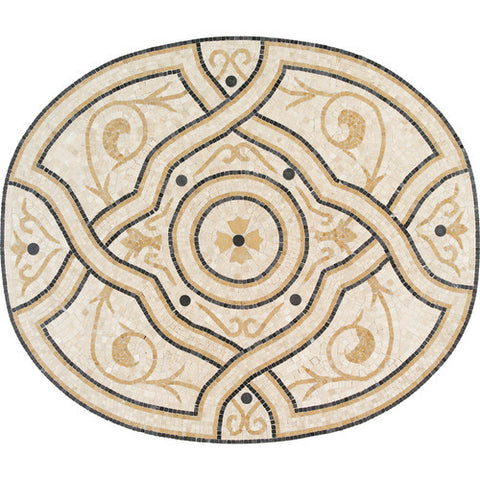Daltile Medallion Collection 47 x 39 Catina Natural Stone Tile
