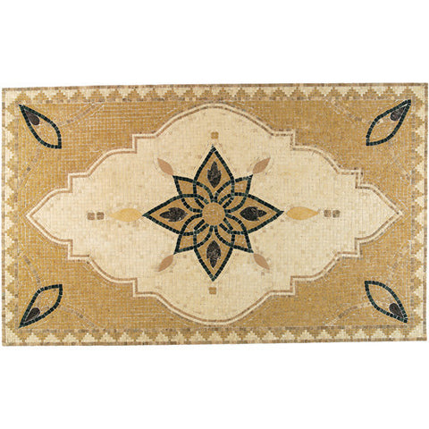Daltile Medallion Collection 70 x 43 Arabesque Natural Stone Tile - American Fast Floors