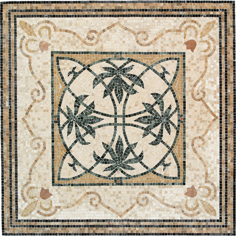 Daltile Medallion Collection 51 x 51 Oasis Natural Stone Tile - American Fast Floors