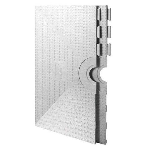 Schluter Kerdi Shower St 48  X 48  Shower Tray Center Drain Placement - American Fast Floors