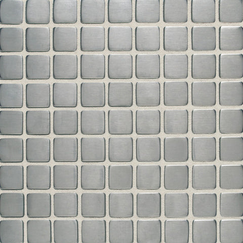 Daltile Metallica Brushed Stainless Steel 1 x 1 Mosaic