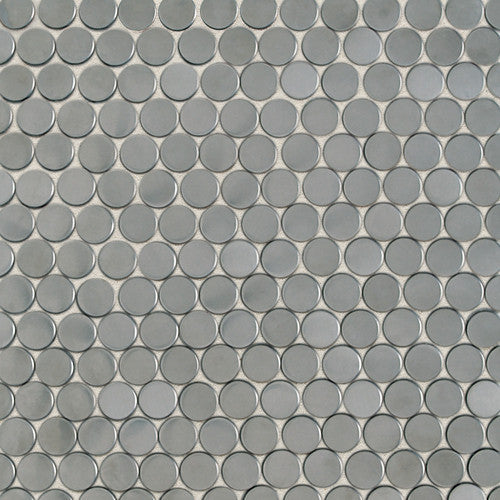 Daltile Metallica Brushed Stainless Steel 3/4 x 3/4 Pennyrounds Mosaic - American Fast Floors