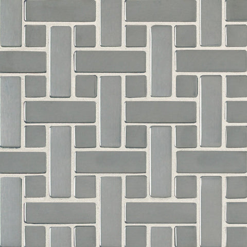 Daltile Metallica Brushed Stainless Steel 3/4 x 3/4 and 3/4 x 2 1/2 Random Mosaic - American Fast Floors