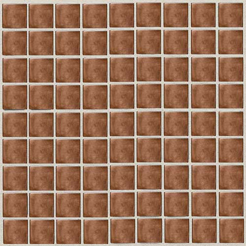 Daltile Metallica Oxidized Copper 1 x 1 Mosaic