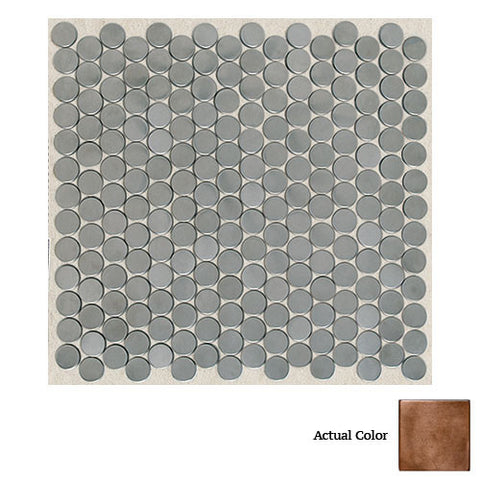 Daltile Metallica Oxidized Copper 3/4 x 3/4 Pennyrounds Mosaic