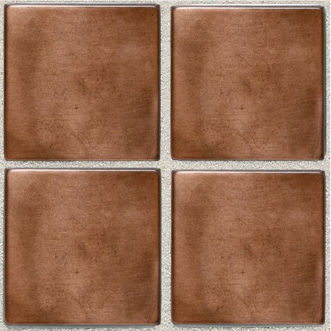 Daltile Metallica Oxidized Copper 2 x 2 Mosaic
