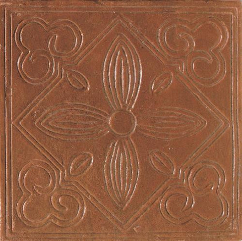 Daltile Saltillo 8 x 8 Sealed Antique Adobe Floral Decorative Tile