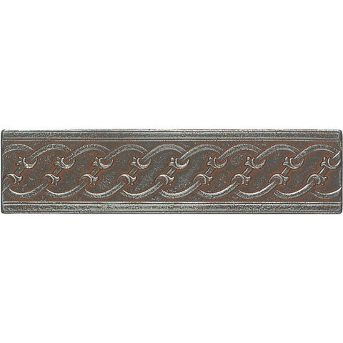 American Olean Saxon Metals 3 x 12 Iron Filigree Accent - American Fast Floors