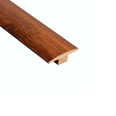 Solid Strand Woven Bamboo Tongue & Groove Carbonized Hand-Scraped T-Molding