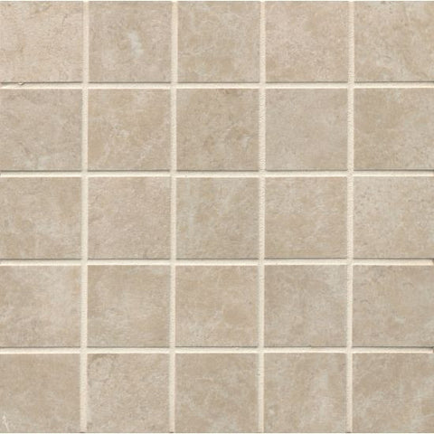 Bedrosians Indiana Stone Mosaic Almond - American Fast Floors