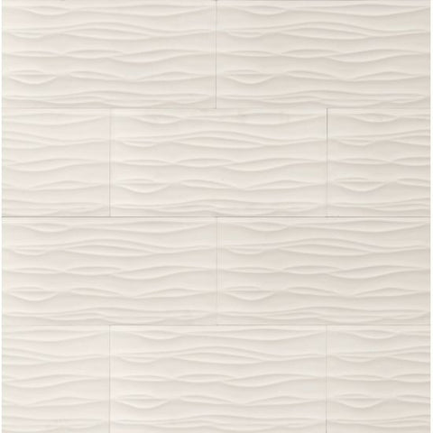 Bedrosians Wave Tile White