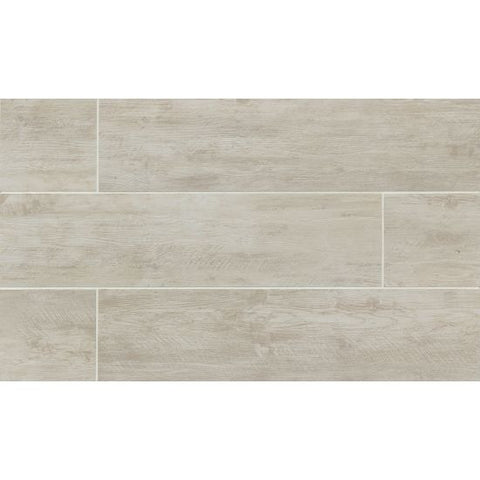 Bedrosians River Wood Tile Blanc