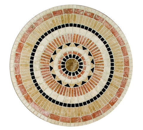 "American Olean Medallions Collection 36"" Round Star Burst Tumbled Medallion - American Fast Floors"