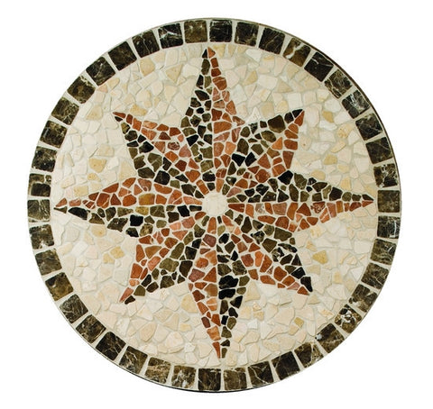 "American Olean Medallions Collection 32"" Round Northern Star Tumbled Medallion"