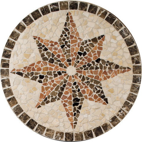 "Daltile Medallion Collection 32"" Round Northern Star Natural Stone Tile"
