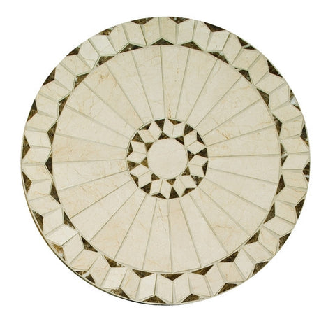 "American Olean Medallions Collection 24"" Round Arcturus Honed Medallion"