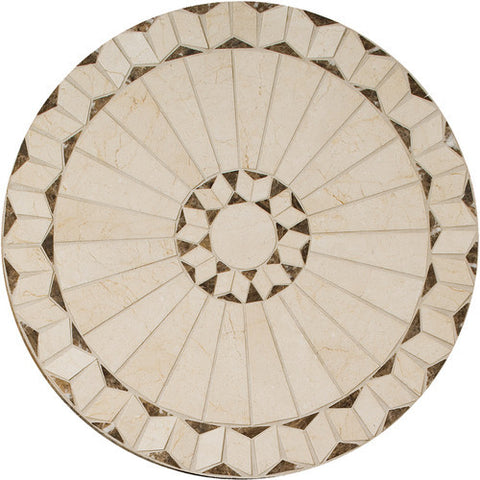 "Daltile Medallion Collection 24"" Round Arcturus Natural Stone Tile"