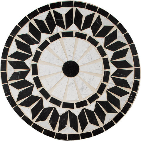 "Daltile Medallion Collection 32"" Round Nova Natural Stone Tile - American Fast Floors"