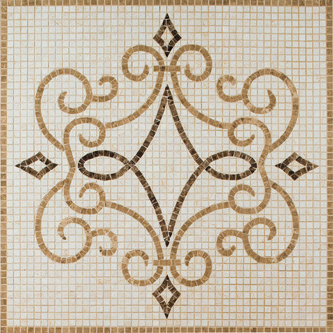 Daltile Medallion Collection 36 x 36 Imperial Natural Stone Tile