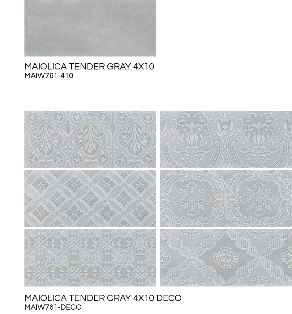 Roca maiolica tender gray 12 x10 pencil ceramic wall tile roca maiolica tender gray 12 x10 pencil ceramic wall tile american fast floors dailygadgetfo Images