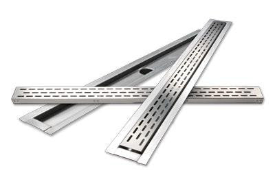LATICRETE  HYDRO BAN LINEAR DRAIN  (60IN BRUSHED STEEL)