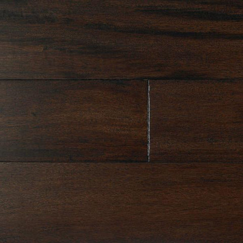 "IndusParquet Tigerwood Ebony Black 1/2"" x 5"" Handscraped Engineered Hardwood - American Fast Floors"