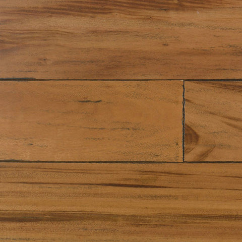 "IndusParquet Tigerwood 1/2"" x 5"" Handscraped Engineered Hardwood - American Fast Floors"