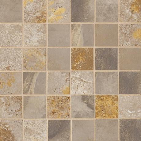 "Marazzi Jade 13""x13"" Taupe 2x2 Mesh Mounted Square Mosaic - American Fast Floors"