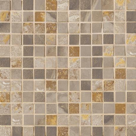 "Marazzi Jade 13""x13"" Taupe 1x1 Mesh Mounted Square Mosaic - American Fast Floors"