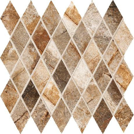 "Marazzi Vesale Stone 13""x13"" Rust Mesh Mounted Diamond Mosaic - American Fast Floors"