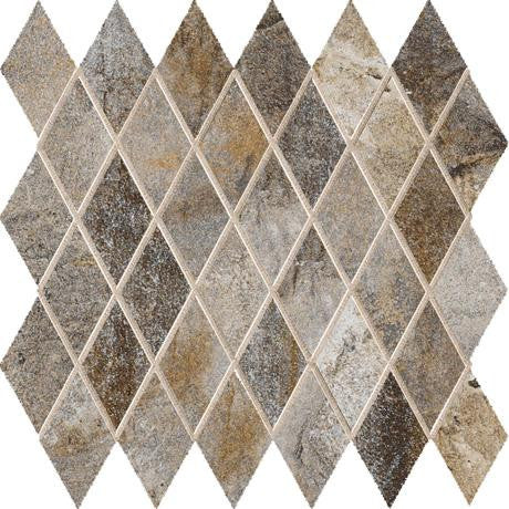 "Marazzi Vesale Stone 13""x13"" Smoke Mesh Mounted Diamond Mosaic"