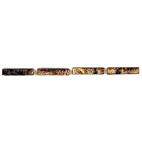 "Marazzi Forest Impressions 3/8""x8"" Glass Gold Liner"