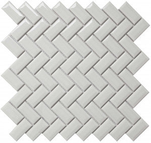 "Roca CC Mosaics 12""X12"" Bright White Diamond Herring Mosaic - American Fast Floors"