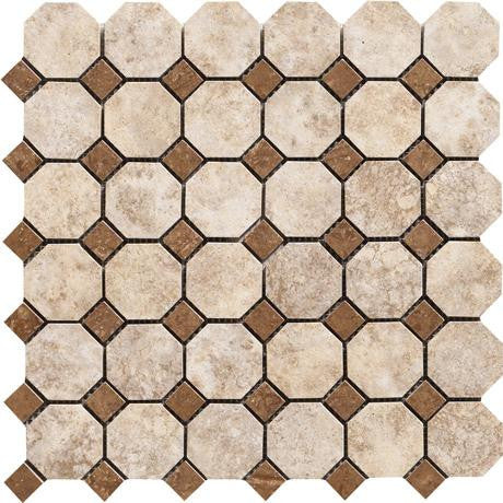 "Marazzi Campione 13"" x 13"" Armstrong Octagon Mosaic"