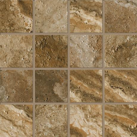 "Marazzi Archaeology 13""x13"" Chaco Canyon Square Mosaic - American Fast Floors"