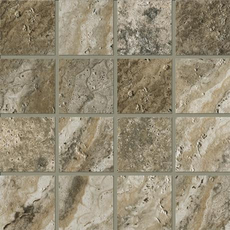 "Marazzi Archaeology 13""x13"" Crystal River Square Mosaic - American Fast Floors"