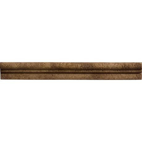 "Marazzi Romancing The Stone 1-1/2""x13"" Noce Chair Rail"