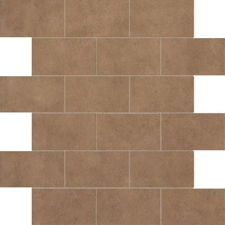 "Marazzi Essentials 12""x12"" Blissful Brown Brick Mosaic"