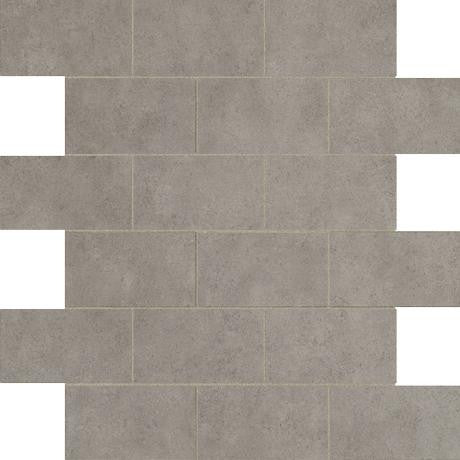 "Marazzi Essentials 12""x12"" Graceful Grey Brick Mosaic - American Fast Floors"