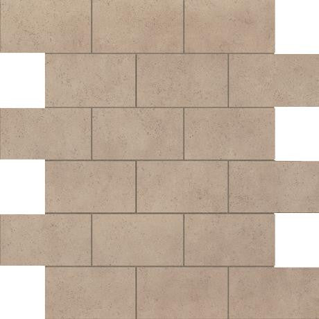 "Marazzi Essentials 12""x12"" Trendy Taupe Brick Mosaic"