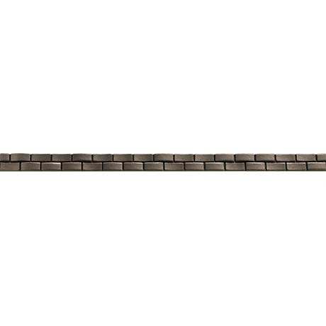 "Marazzi Metal Mania 3/4""x13"" Pewter Wave Liner"