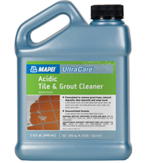 Mapei Ultracare Acidic Tile & Grout Cleaner - 32 Oz Jug - American Fast Floors