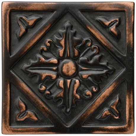 "Marazzi Romance Collection 2""x2"" Venetian Bronze Diamond Insert"