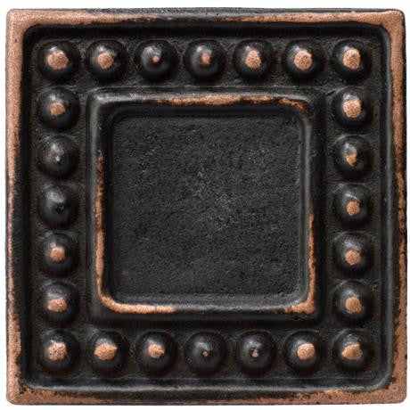 "Marazzi Romance Collection 1""x1"" Venetian Bronze Dot Insert"