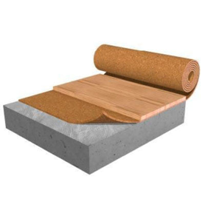 "Acousticork Premium Cork 8210 6mm Sound Control Underlayment 48"" X 98' - 392 SF. Roll - American Fast Floors"