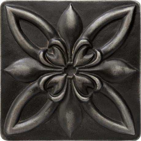 "Marazzi Romance Collection 4""x4"" Wrought Iron Floral Insert"