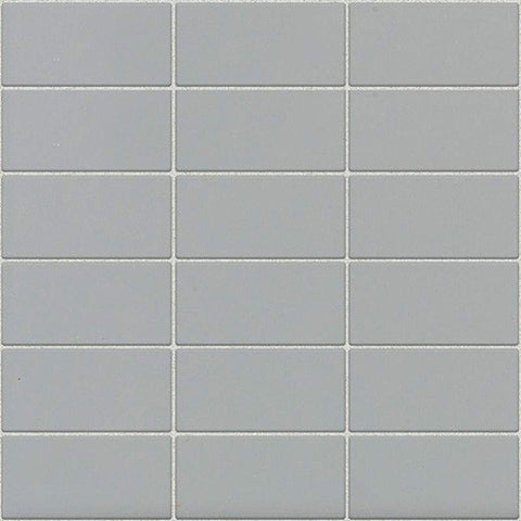 Daltile Modern Dimensions Gloss Desert Gray 2 x 4 Straight-Joint Mosaic