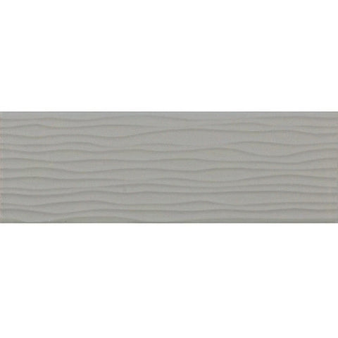 Daltile Modern Dimensions 4-1/4 x 12-3/4 Gloss Desert Gray Wave Accent - American Fast Floors