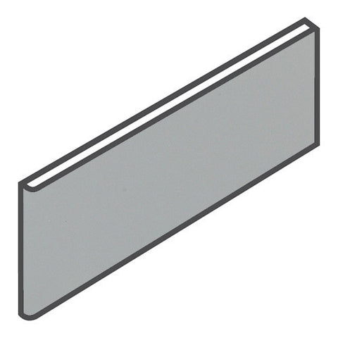 "Daltile Modern Dimensions 4-1/4 x 12-3/4 Gloss Desert Gray Surface Bullnose - 4-1/4"" Side"