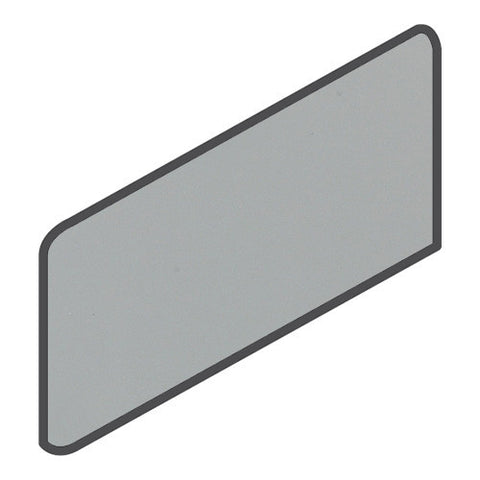 Daltile Modern Dimensions 4-1/4 x 8-1/2 Gloss Desert Gray Wall Bullnose Corner Right
